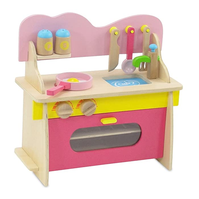 Emily Rose Doll Clothes 18-inch Doll Furniture | Kitchen Set with Baking Oven, Stove, Sink and Cookware Accessories | Fits American Girl Dolls