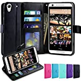 HTC Desire 626 / 626s Case, LK Luxury PU Leather Wallet Case Flip Cover Built-in Card Slots Stand For HTC Desire 626 / 626s, BLACK