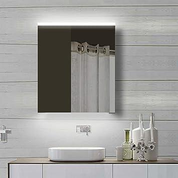 Lux Aqua Alu LED Beleuchtung Badzimmerschrank Badschrank Spiegelschrank  YDC60 70, Aluminium, 60x70cm
