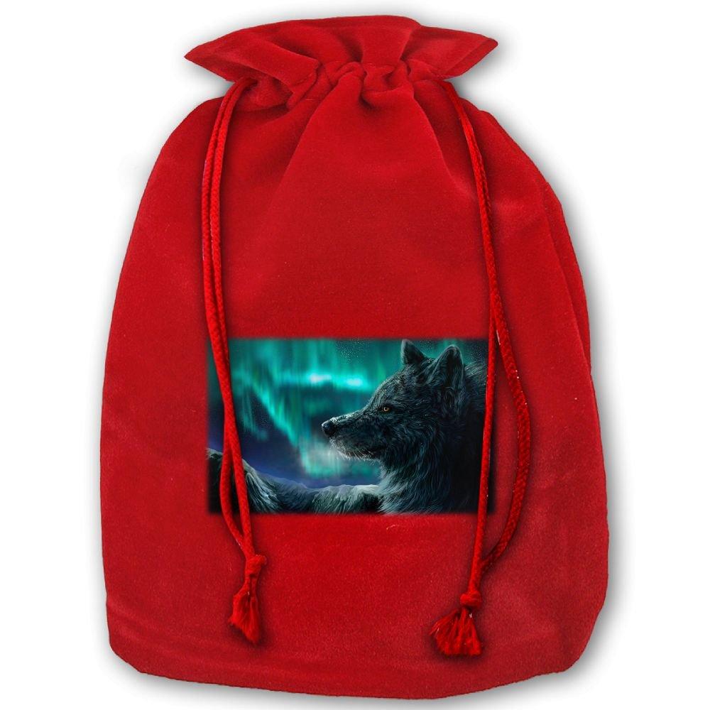 amazon com real northern lights wolf drawstring christmas gift