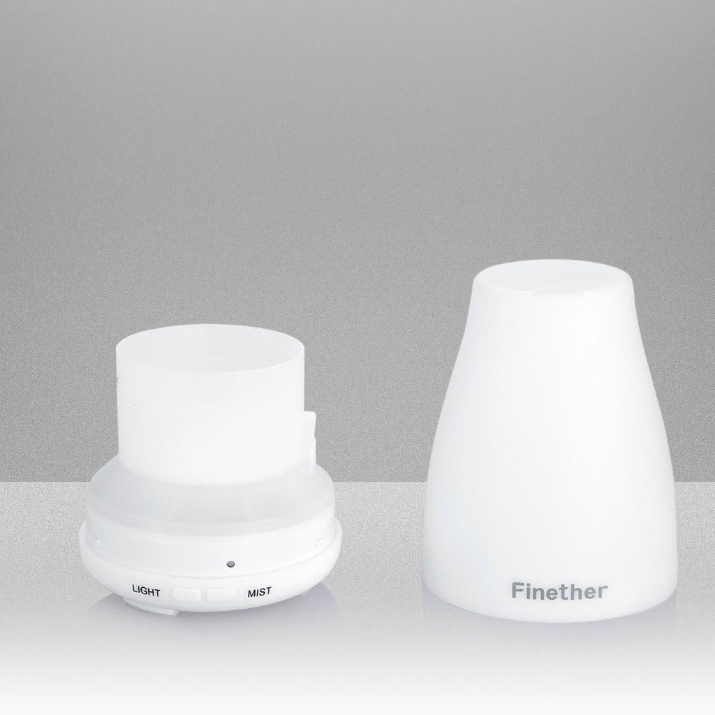 Finether-Difusor de Aceites Esenciales, Humidificador de Aire ...