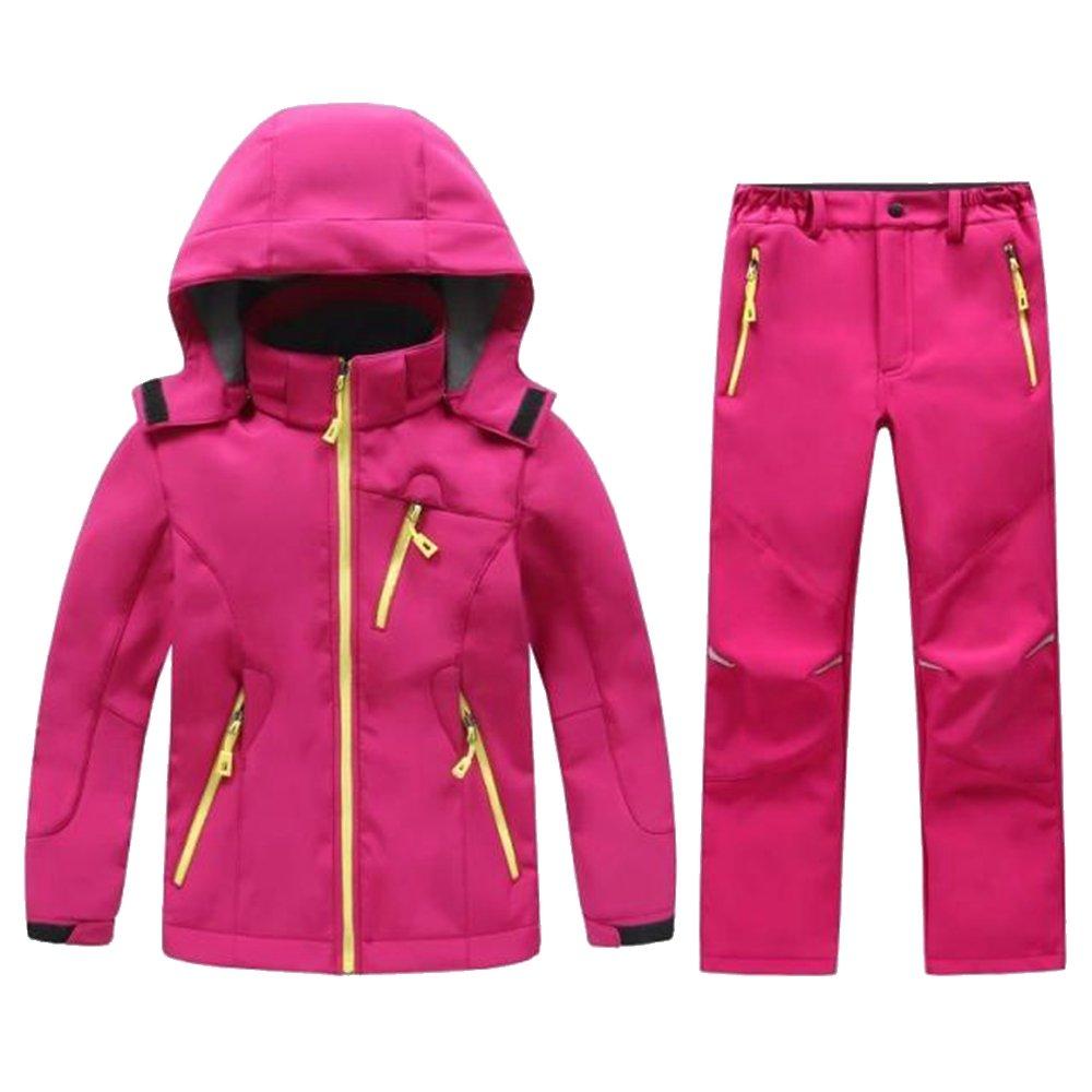LANBAOSI Boys & Girls Jacket and Pants Kids Softshell Fleece Lined Suits