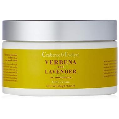 Crabtree & Evelyn Body Cream, Verbena and Lavender de Provence, 8.8 oz