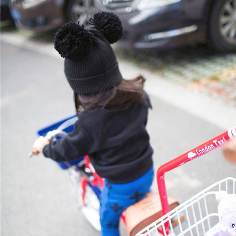 Kocome Newborn Infants Baby Girl Boy Winter Warm Knit Hat Toddler Hairball Beanie Cap