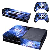 Cheap UUShop Starry Sky Skin Stickers for Microsoft Xbox One with Two Free Wireless Controller Decals