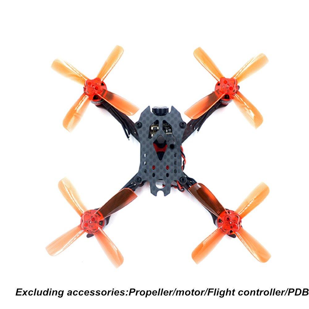DroneAcc X 110mm Mini FPV Racing Drohne Frame Carbon: Amazon.de ...