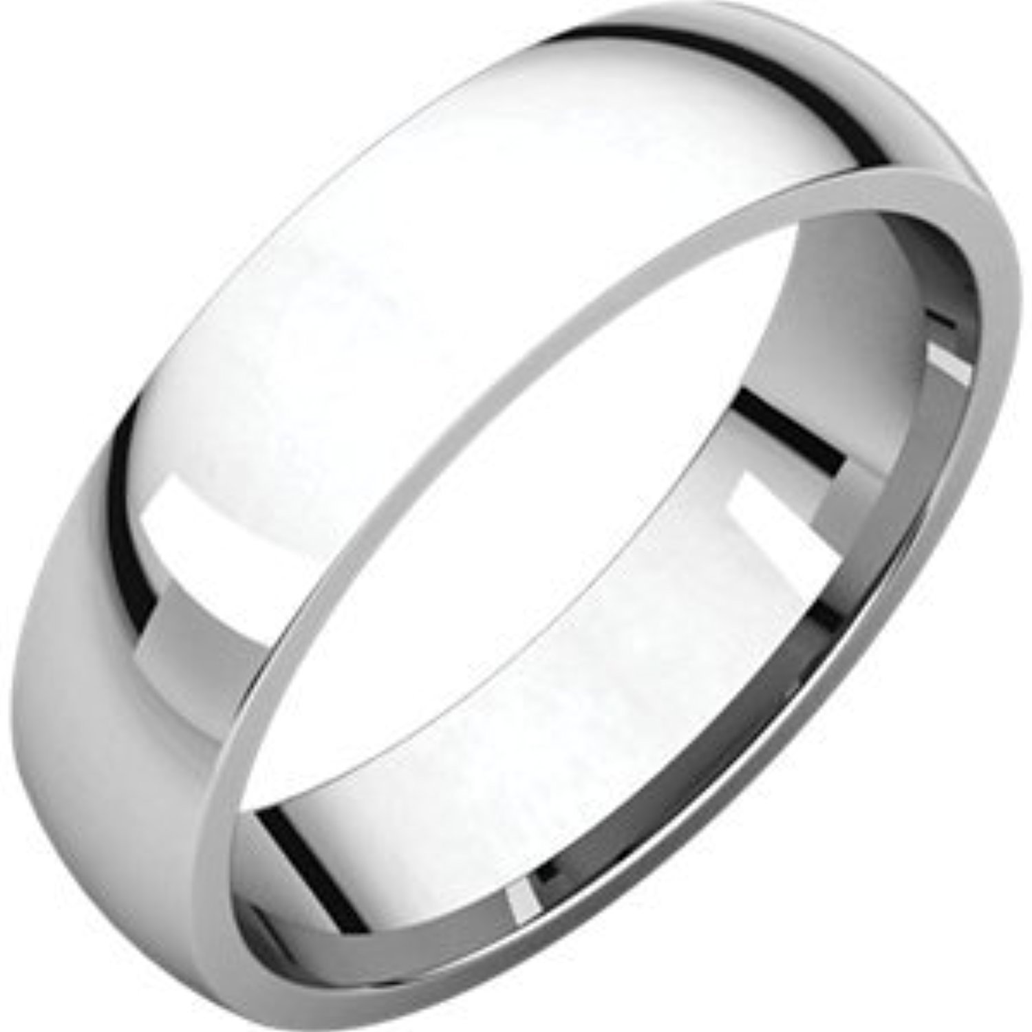 10 Size Sterling Silver Light Comfort Fit Band