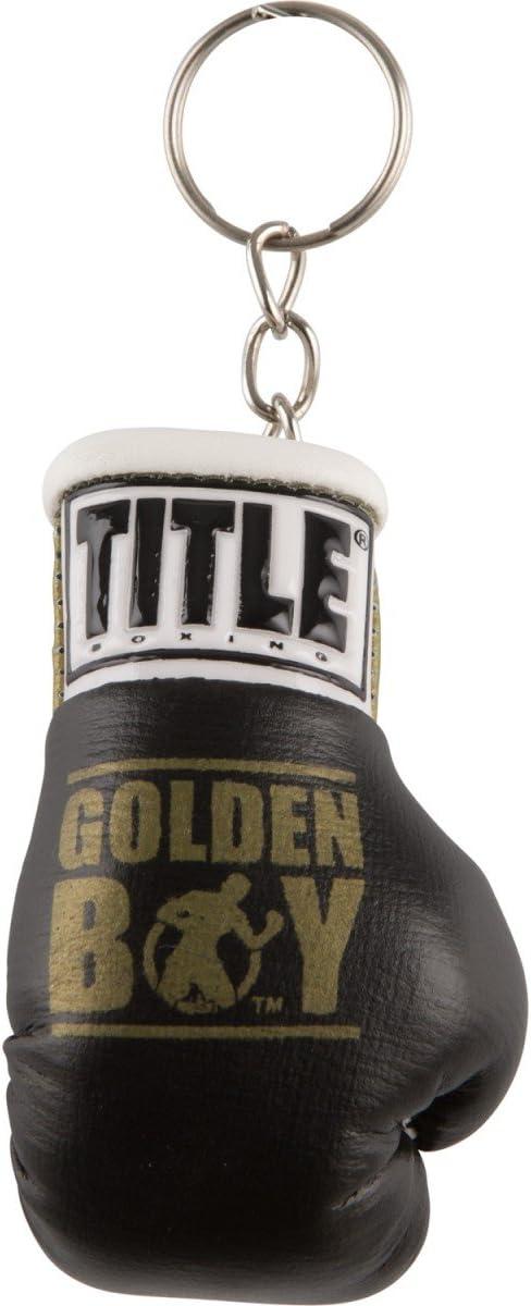 ゴールドen Boyボクシンググローブキーリング ブラック/ゴールド