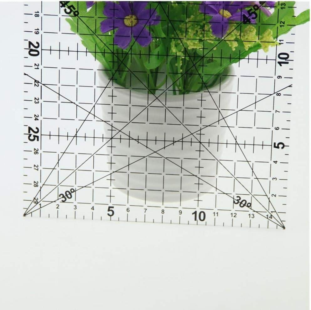 15 cm Patchwork R/ègle Quilt Outils High Grade Acrylique Mat/ériel Scolaire Transparent R/ègle /échelle Supplie Zonster 1 Pc 30