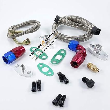 Amazon.com: Single Turbo Oil Feed Line Kit Flange Kit for Toyota Supra 1JZGTE 2JZGTE 1JZ/2JZ: Automotive