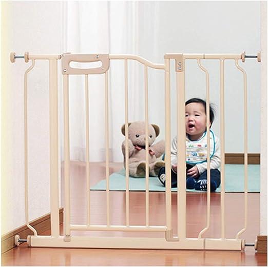 YONGYONG-Guardrail Barreras de Puerta Bebé Niño Puerta De Seguridad Bebé Escalera Cocina Aislamiento Medio Perro Cerca Perro Cerca (Size : 122-129cm): Amazon.es: Hogar