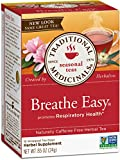 Traditional Medicinals Organic Breathe Easy Seasonal Tea, 16 Tea Bags (Pack of 6)