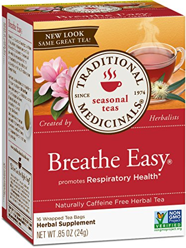Traditional Medicinals Organic Breathe Easy Seasonal Tea, 16 Tea Bags (Pack of 6) (Best Tea For Asthma)