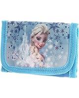 Portefeuille enfant fille La reine des neiges Elsa Bleu 14 x 14cm