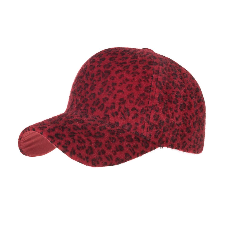 ANDERDM Winter Leopard Print Baseball Cap Casual Adjustable Hats