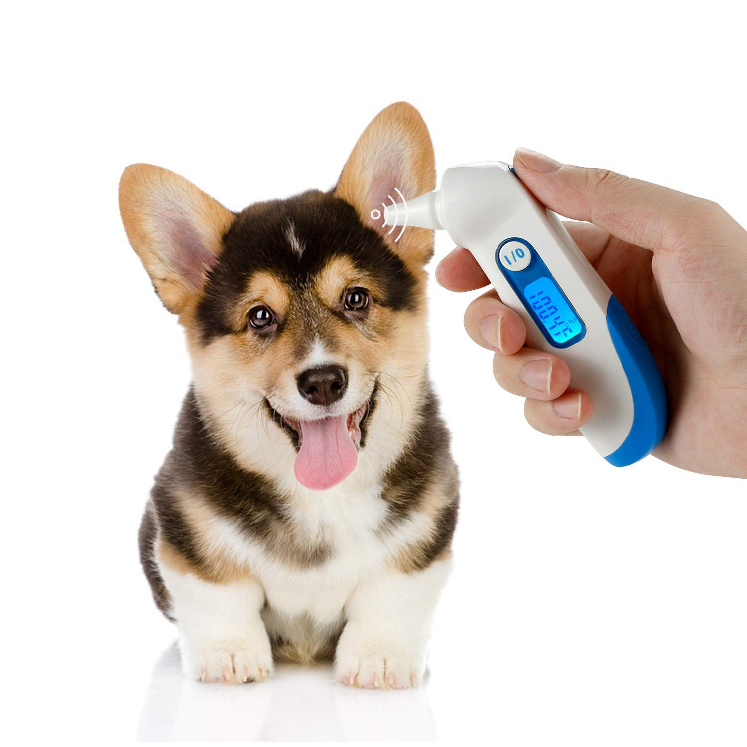 Pet Clinic Infrared Ear Thermometer for Dog Cat, Veterinary Thermometer Measure Ear Canal Temperature in 1s, Suitable for All Pets C/F switchable by iCare-Pet (Image #1)