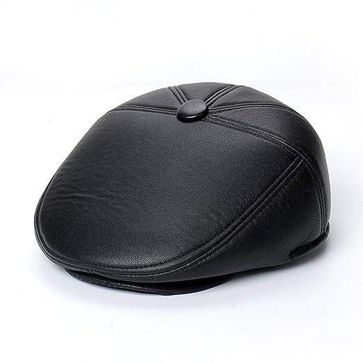 Liuxiaomiao - Gorra de Piel para Hombre: Amazon.es: Hogar