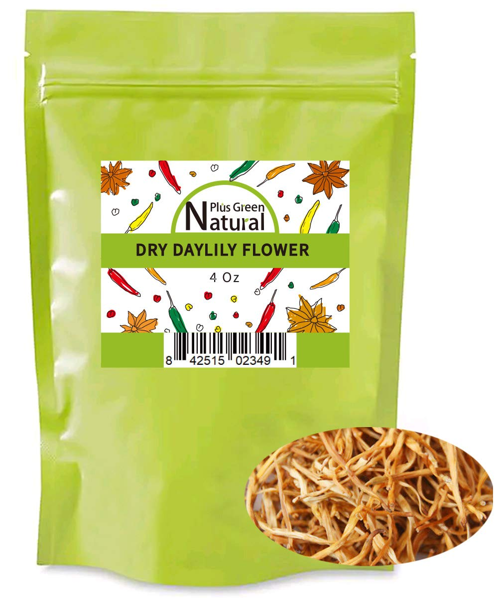 Premium Dried Lily Flowers Buds Unsulfured 4 Ounces, Dried Lilium Fowers Bulk Chinese Food Cooking, Golden Needles Dried Day Lilies for Hot & Sour Soup, Moo Shu Pork, and Buddha's Delight