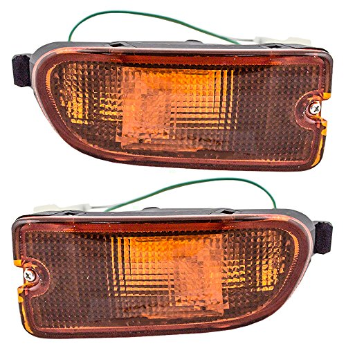 Pair Set Park Signal Front Marker Lights Lamps Bumper Mounted Replacement for 99-01 Subaru Impreza RS 84441FA170 84441FA160 AutoAndArt
