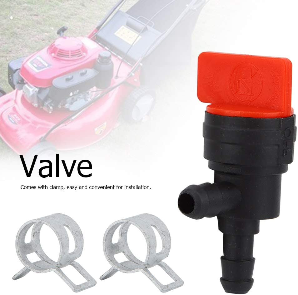 TOPINCN 2Pcs 90 Degree Fuel Shut Off Valve for 1//8 Inch Fuel Line Fit for Briggs /& Stratton 698181 494539 697944
