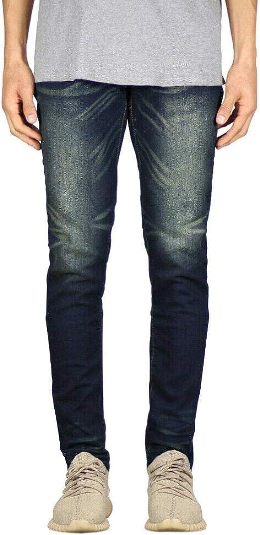 Juleyaing ファッションメンズジーンズレトロウォッシュ破れたジーンズ刺繍入りヴィンテージデニムパンツヒップホップスリムジーンズストリートウェア