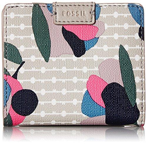 Fossil Emma Rfid Mini Wallet, Floral Multi/White