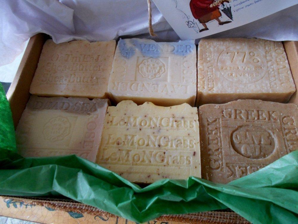 All Natural Soap Gift Set Twelve Piece Bar Soaps - Handmade !