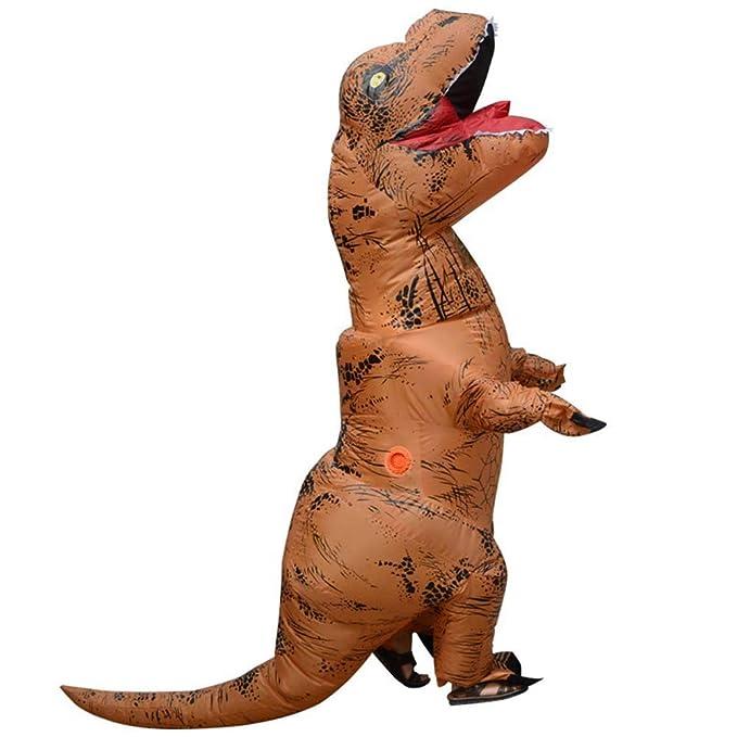 Fernando Guapo - Disfraz de Dinosaurio Inflable para Adultos y niños, Disfraz de Santa Claus para Cosplay, Tyrannosaurus Rex T-Rex, 8#, Child: ...