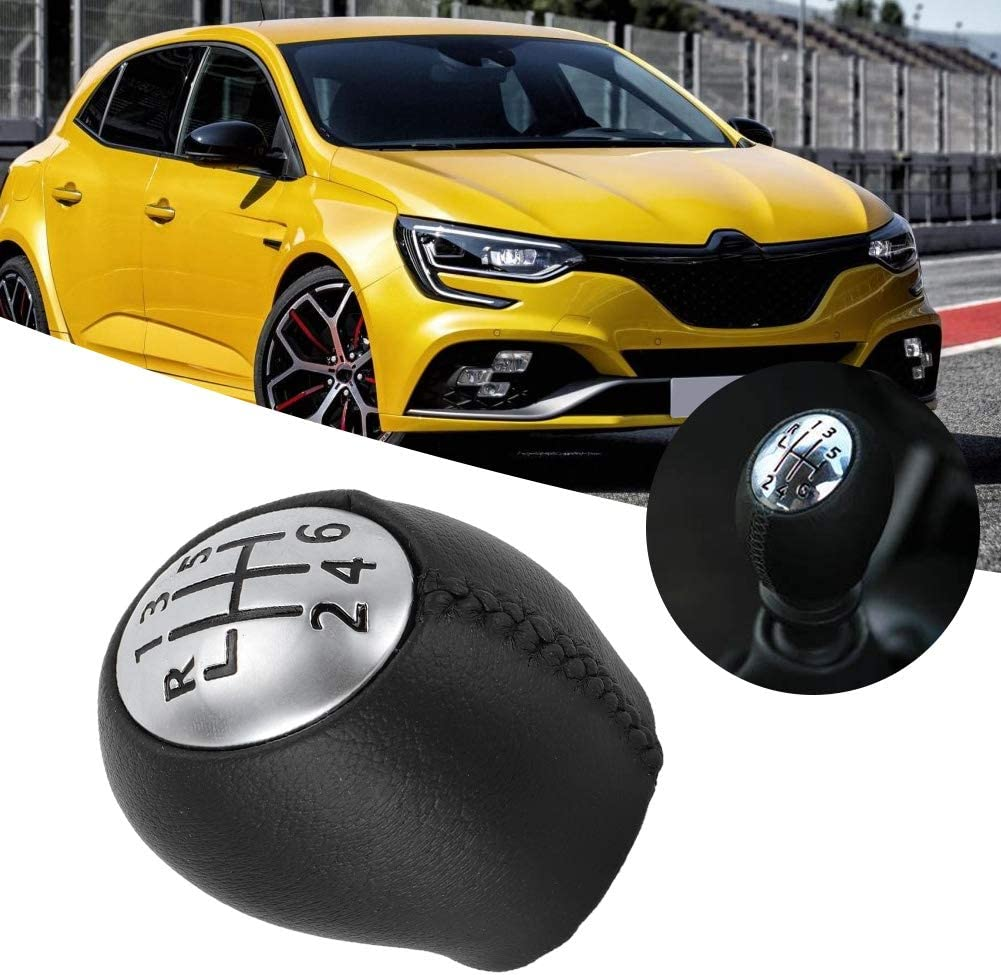 Car Gear Shift Knob 328650005R Vehicle Replacement Shift Knob 6 Gear Shift Knob Fit for Megane III