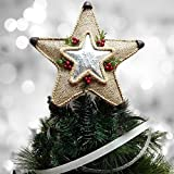 Holiday Time 12' Burlap Metal Star Tree Topper
