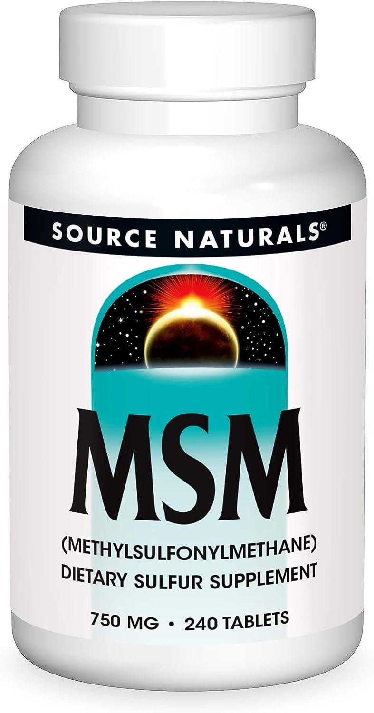 Source Naturals MSM (methylsulfonylmethane), 750mg, 240 Tablets