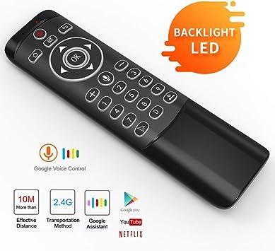 Mando a Distancia de Voz, Control Remoto MT1 Smart TV, ratón con Control de Voz inalámbrico de 2,4 G para Smart TV/Android TV Box/Proyector/PC/HTPC/IPTV y Reproductor Multimedia: Amazon.es: Electrónica