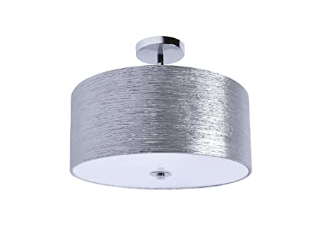 Providence semi flush mount silver minimalist ceiling drum light providence semi flush mount silver minimalist ceiling drum light aloadofball