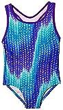 Kyпить Speedo Big Girls' Solid Infinity Splice One Piece Swimsuit (5, Blue Zig Zag) на Amazon.com