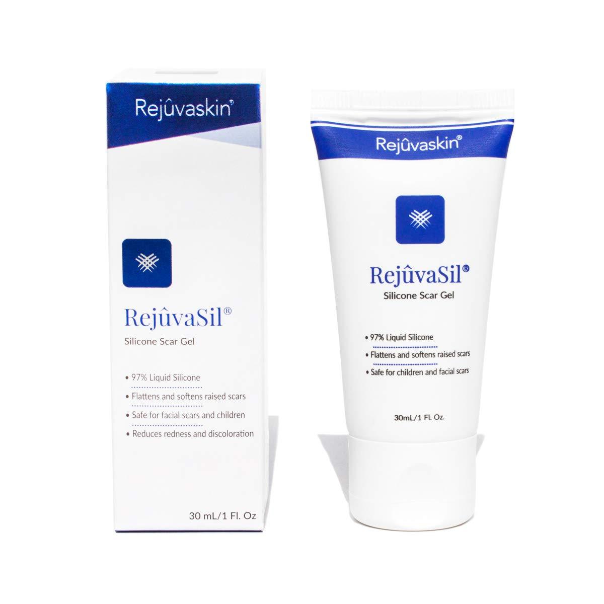 Rejuvaskin RejuvaSil Silicone Scar Gel - Improves the Appearance of Scars - Physician Recommended - 30 mL by Rejuvaskin