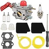 Anzac 545081857 Carburetor + 545146501 Air Filter Adjustment Tool for Zama C1U-W43 Poulan VS-2 BVM200FE Craftsman…