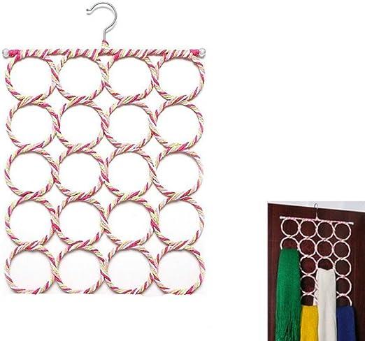 Vosarea Organizador para Pa/ñuelos Bufandas Percha con 9 Anillos Aleatorio Color