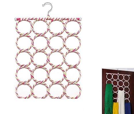 Caolator, percha multifunción porta corbatas o porta bufandas con 20 agujeros para pañuelos, fulares, etc., color aleatorio