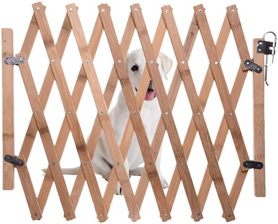 smileyshy La Valla Retr/áctil para Perros Carbonized Pet Gate Fence Dog Puerta Corredera Parque Infantil para Ni/ños para Perro Mediano Peque/ño