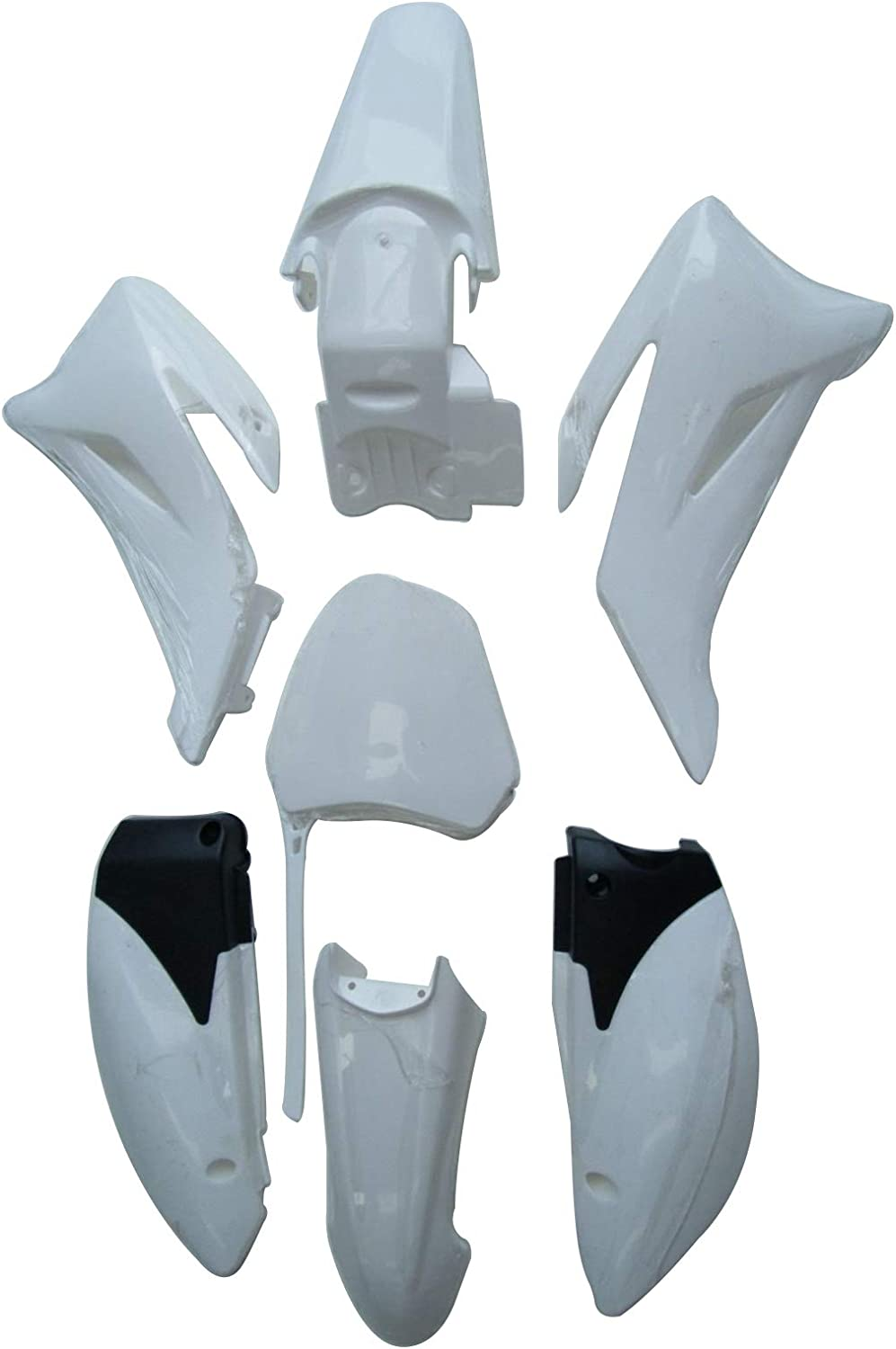 White TDPRO Plastic Fender Fairing Kit for Yamaha TTR110 Pit Dirt Bike