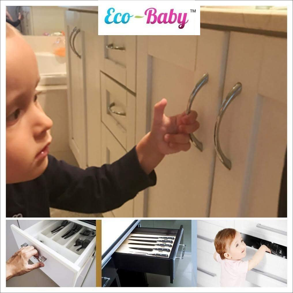 Baby & Child Proof Cabinet & Drawers Magnetic Safety Locks - Heavy Duty Locking System (6 Pack) by Ecobaby (Image #6)
