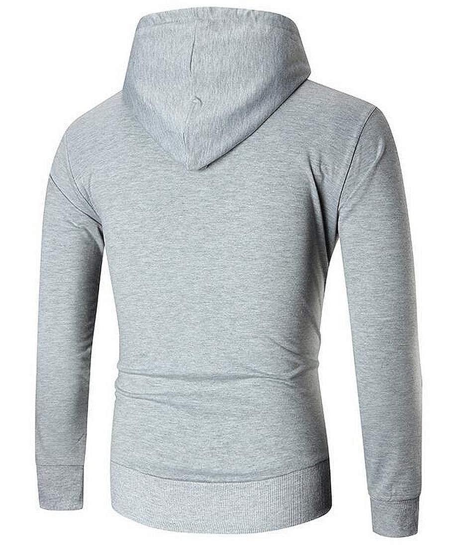 XTX Mens Winter Casual Pullover Long Sleeve Pocket Hoodies Sweatshirt