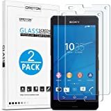 Xperia Z3 Compact Screen Protector,[ 2 Pack ] Omoton Tempered Glass Screen Protector for Xperia Z3 Compact 4.6 Inches, Non-Scratch, Anti-Oil, Anti-Blister, 9H Hardness