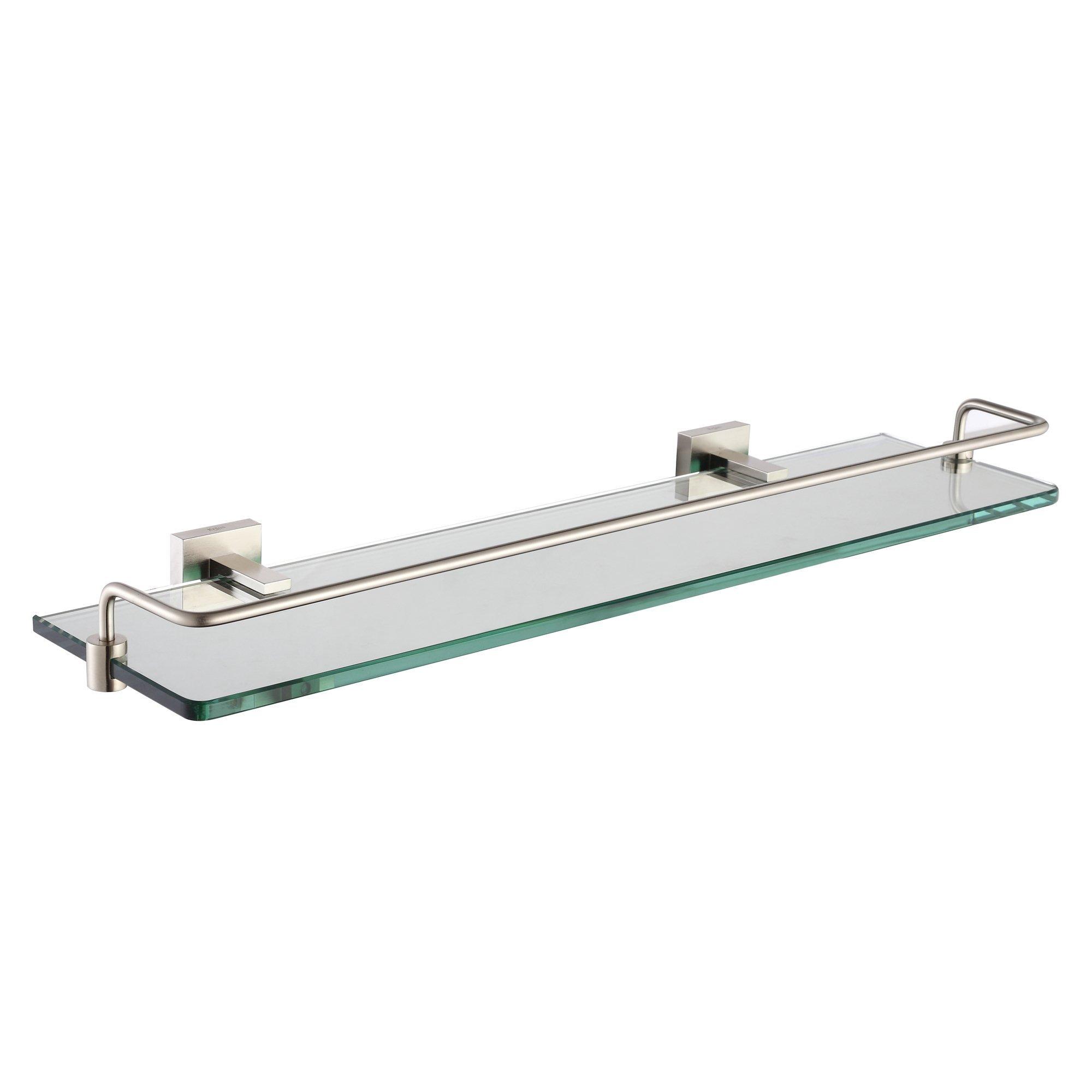 Kraus KEA-14445BN Aura Bathroom Accessories - Shelf with Railing Brushed Nickel