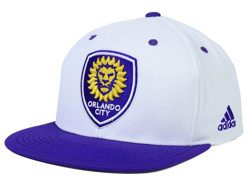 Orlando City FC Adidas MLSホワイトLaunch 1つサイズスナップバック帽子キャップ B01LZJZM05