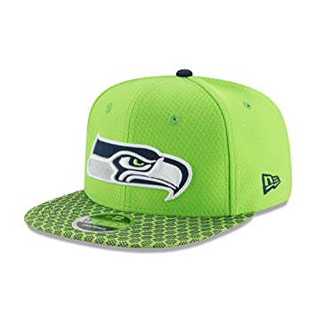 10f46d19c New Era NFL SEATTLE SEAHAWKS Authentic 2017 Sideline 9FIFTY Snapback Game  Cap