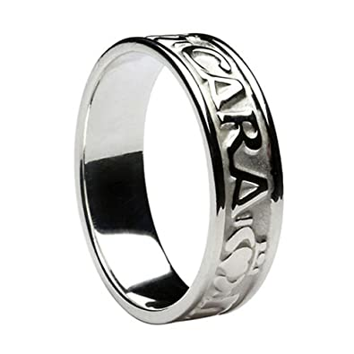 Mens Mo Anam Cara Irish Wedding Band Sterling Silver Amazoncom