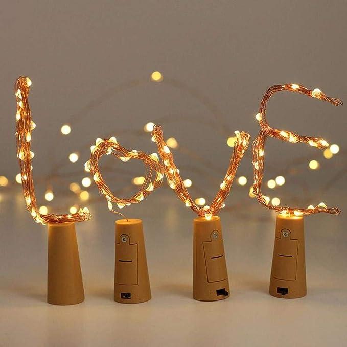 Sharp Ton 12 x 20 LED 2 m botellas de luz blanco cálido, LED luz ...
