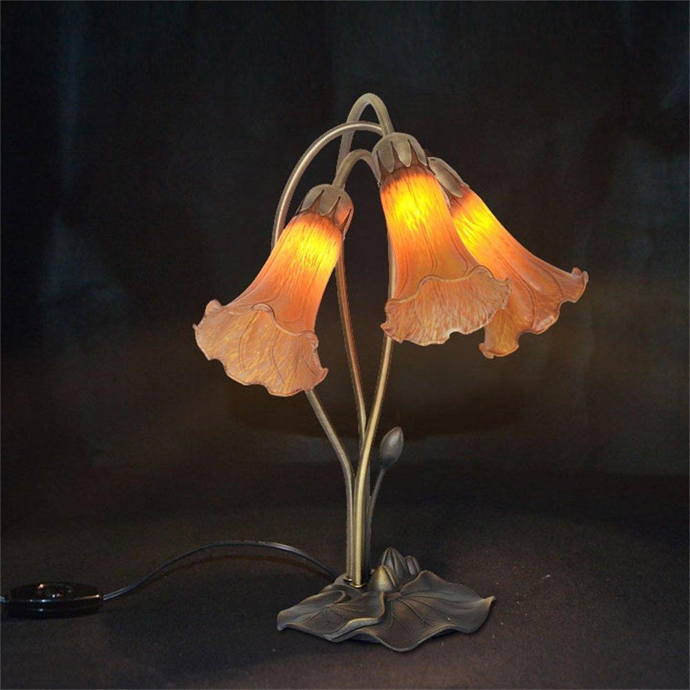 Amazon.com: SMC - Lámpara de mesa de cristal con forma de ...