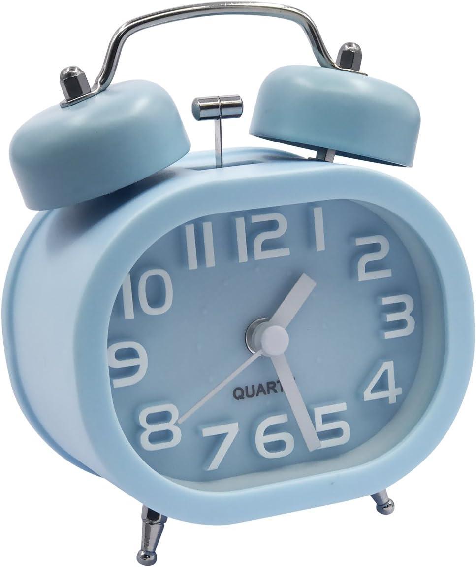 EASEHOME Retro Reloj Despertador Analógico de Cuarzo, 3